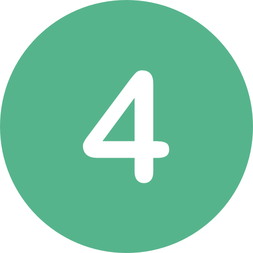 number 4 green icon